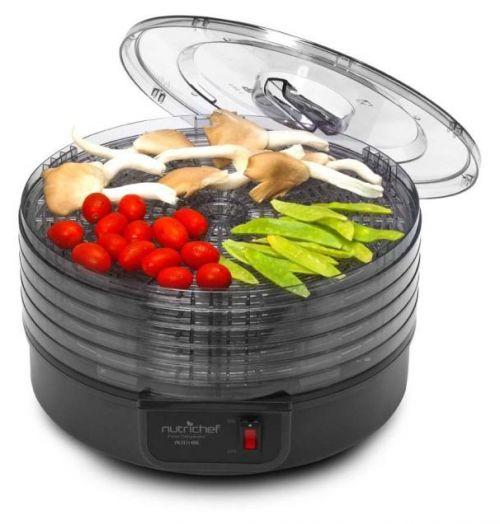 NutriChef PKFD14BK Kitchen Electric Countertop Food Dehydrator & Food Preserver